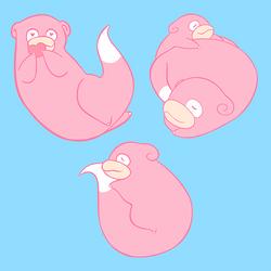 Slowpoke Stickers