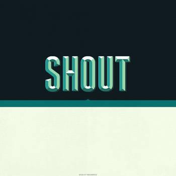 Shout iPad Wallpaper by fudgegraphics