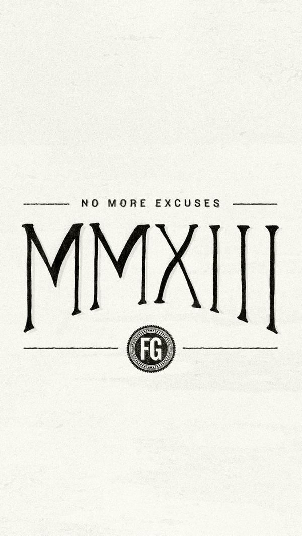 MMXIII iPhone Wallpaper by fudgegraphics