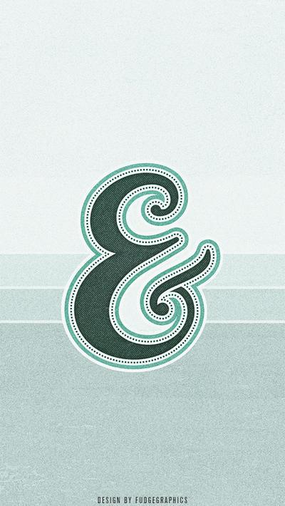 Ampersand iPhone Wallpaper by fudgegraphics