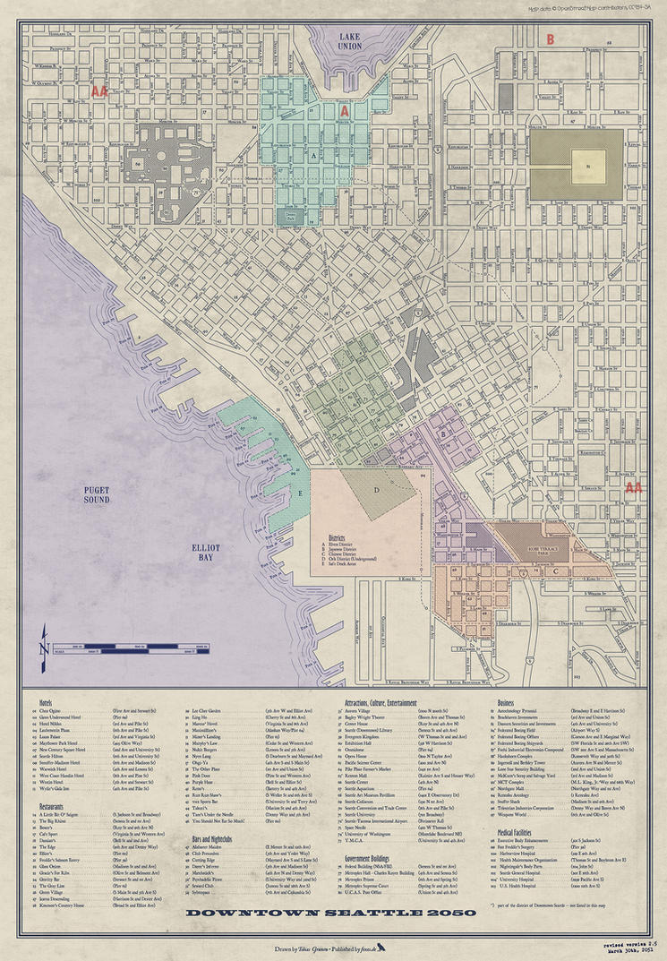 Shadowrun Seattle Downtown Zones and Districts by MNNoxMortem on ...