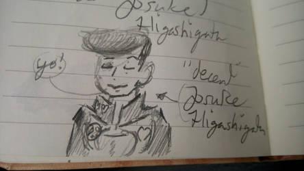 Josuke Higashikata (a doodle) by Oclictis1