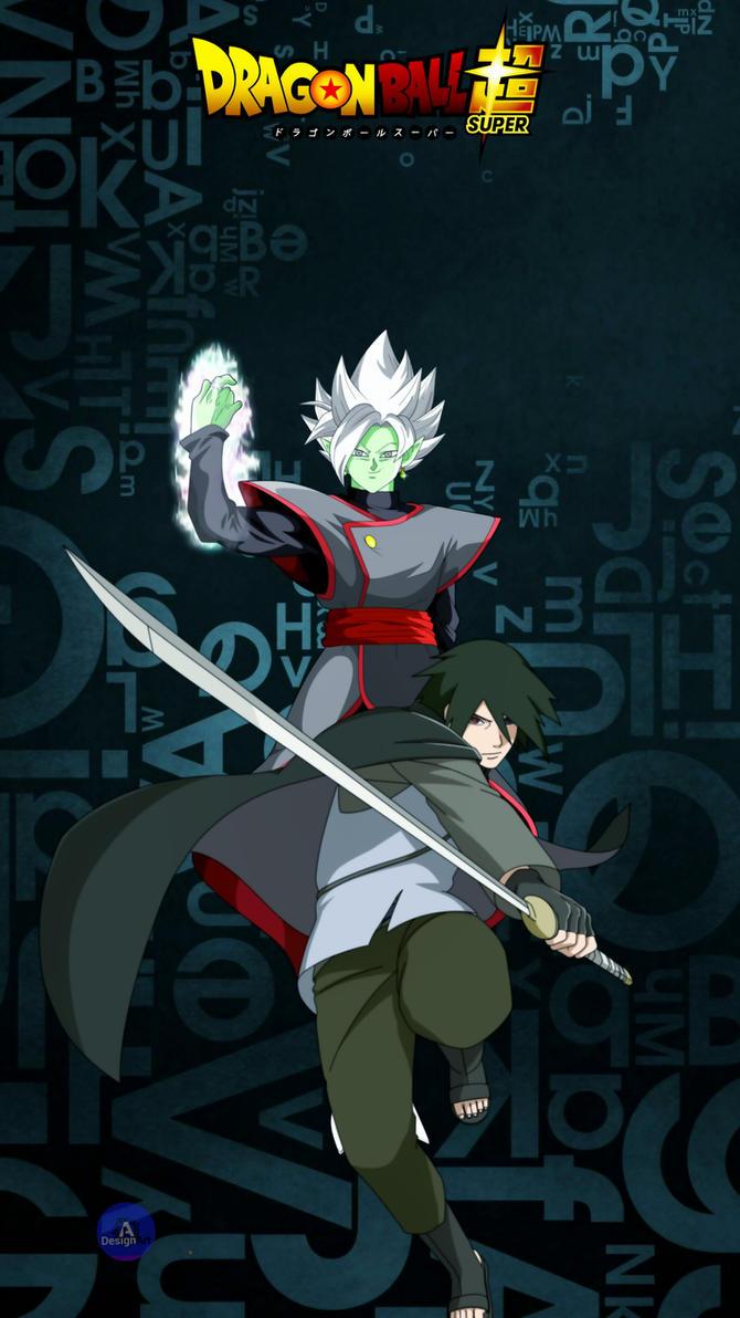 Sasuke and Zamasu by luckyal77