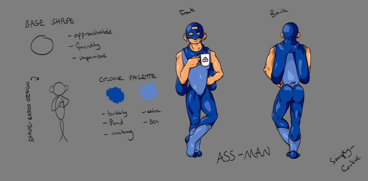 TAoRW: Character Sheet: Ass Man by SimplyCookie