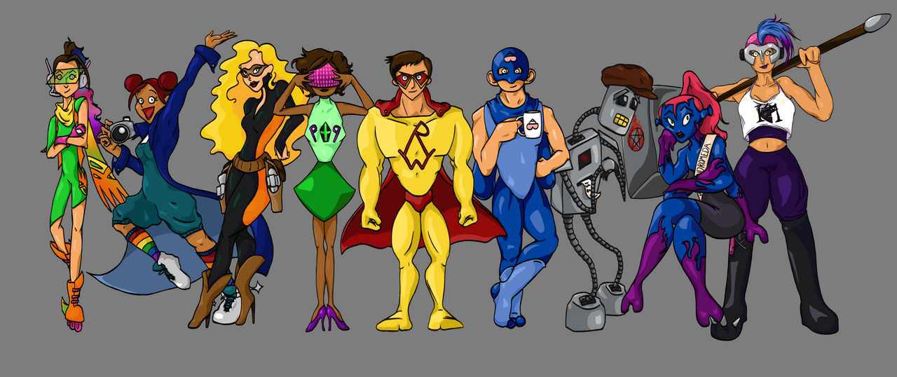 The Adventures of Retail Warrior Line-up by SimplyCookie