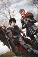 Dragon Age 2 | Hawke and Aveline by zeropuntosedici