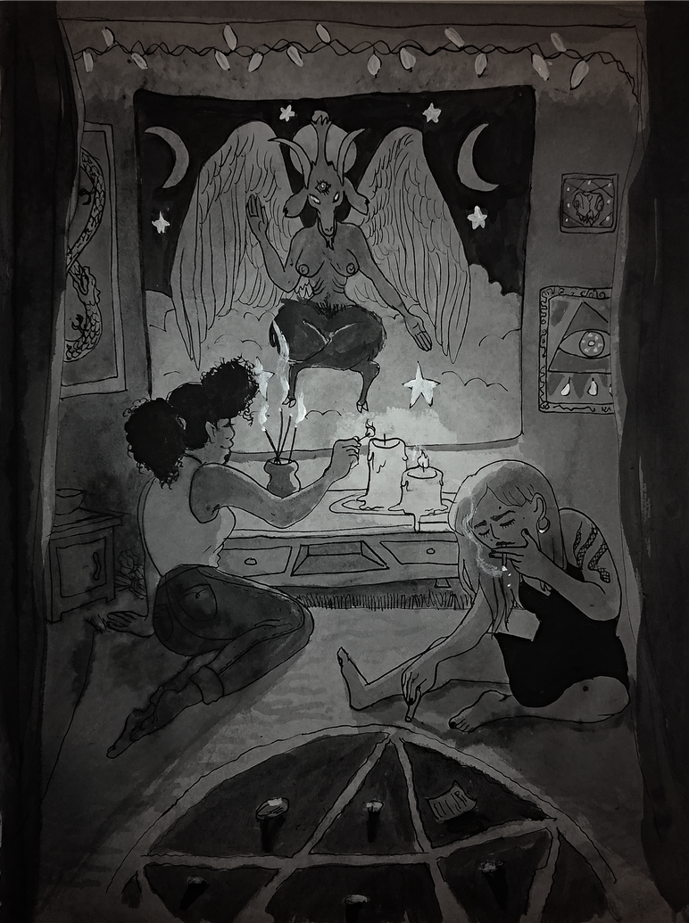 Inktober Day 5: Occult by KuudesSilma
