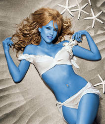 Jessica Alba Smurfette by BeautifullyChaotique