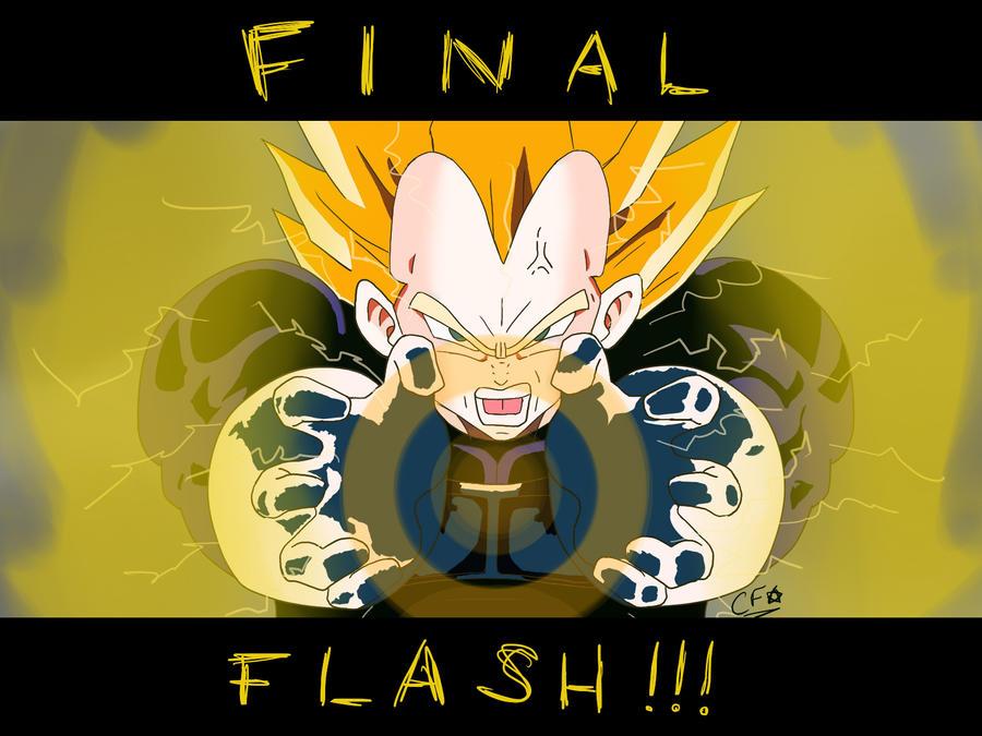 Super Vegeta Final Flash Wallpaper Final Flash by ColdFaf...