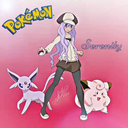 (GIFT) Serenity - Pokemon OC (For Alyssia) by Zer0-Stormcr0w