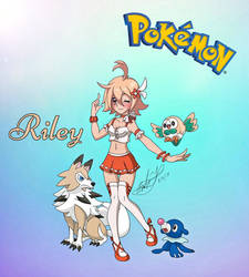 Riley - Pokemon OC (New Look) by Zer0-Stormcr0w
