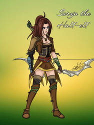 Soryn The Half-Elf (Custom OC) by Zer0-Stormcr0w