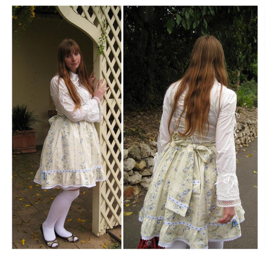 Blue Rose Skirt by shoujo-neko