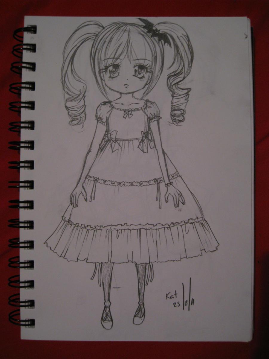 Innocent Goth Lolita Doll by shoujo-neko