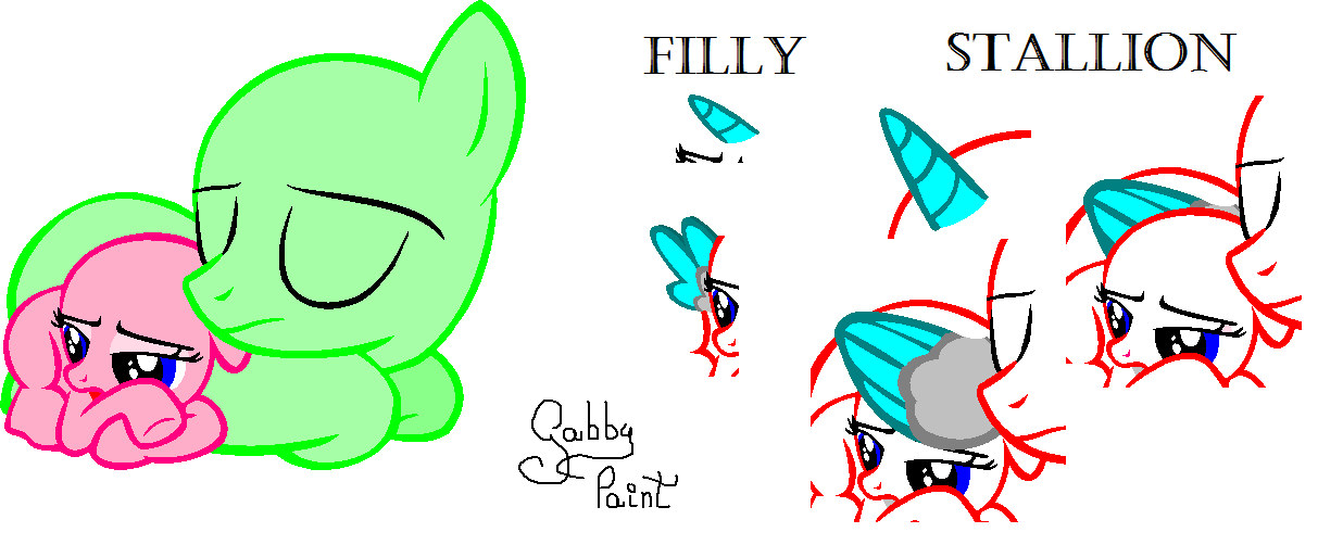 filly and stallion sleeping base by gabbypaint ponybases on deviantart. Black Bedroom Furniture Sets. Home Design Ideas