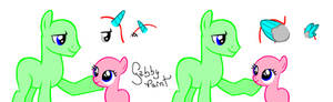 Filly and Stallion .:I want to be like you:. Base