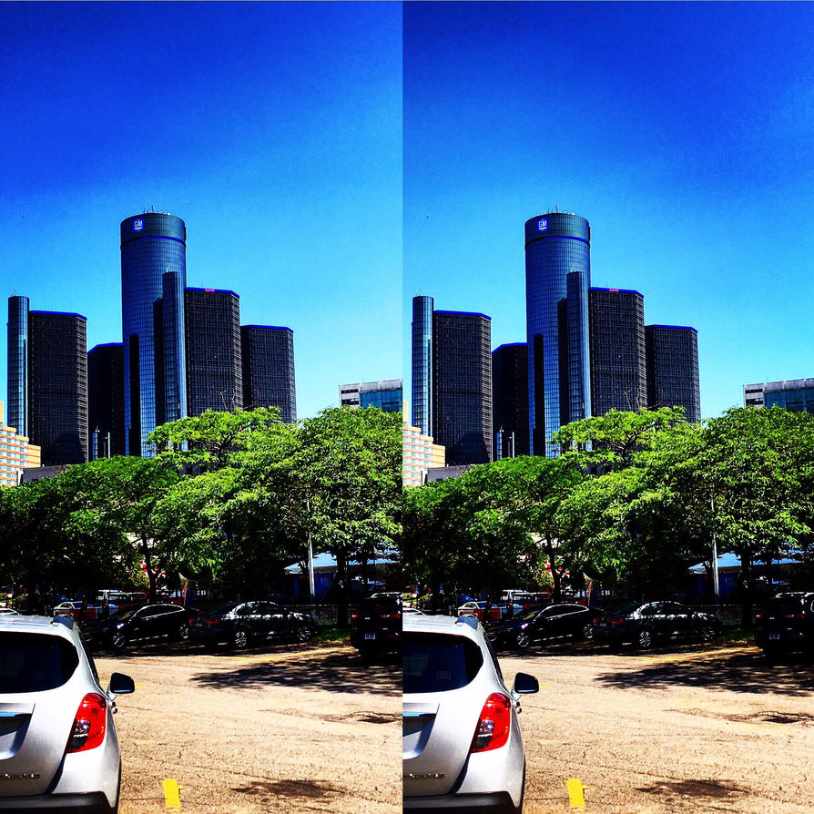 Downtown Detroit in the summer  by historykid007
