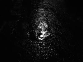 Down  to  the dark street of a  raining night.. by MrDoomy