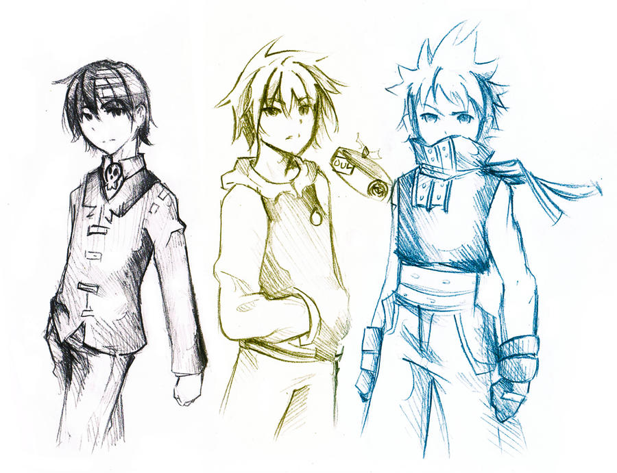Soul Eater : 3 boys ? by XiaFei