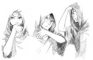 3 guys by XiaFei