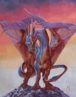 multicolored dragon by RMBDarkmyth