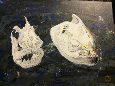 Piranha skulls by elizashoop