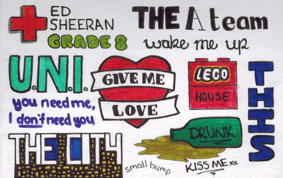 ed sheeran lyric drawings - photo #34