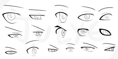 Anime male eyes - examples