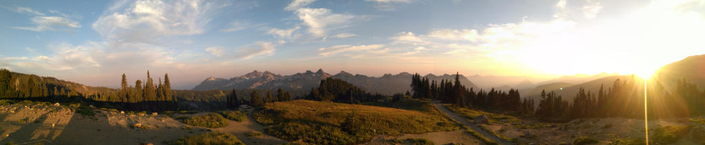 Mt Rainier Vista by Raphial