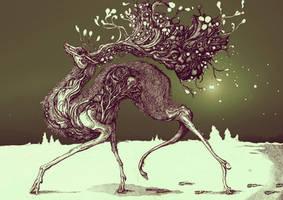 distorted deer