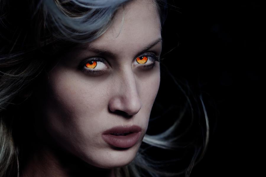 Как сделать фотошоп вампир