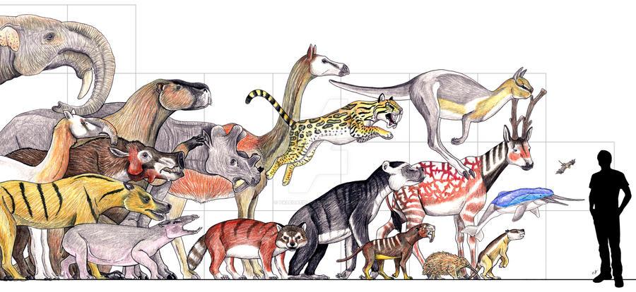 Fossil Mammal Parade by PaleoAeolos