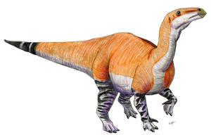 Iguanodon bernissartensis by PaleoAeolos