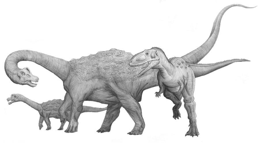 Neuquensaurus vs Abelisaurus by PaleoAeolos