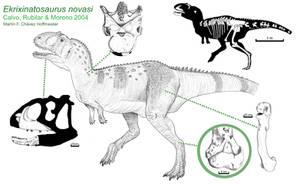 Ekrixinatosaurus novasi by PaleoAeolos