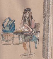 Girl Studying Inside Shafer Hall by radioactiveroach
