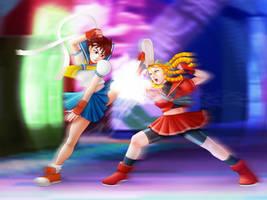 Sakura vs Karin by raulovsky