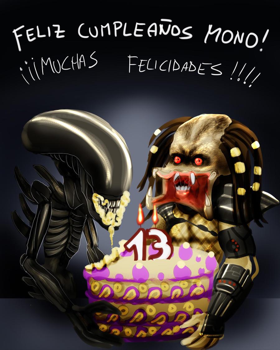 Predator Birthday Cake