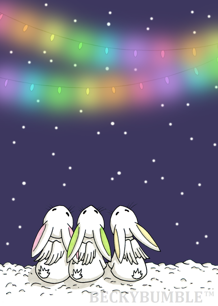 Three little flutterby bunnies by BeckyBumble