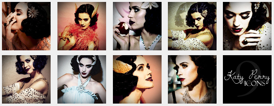 9 Katy Perry Icons by LadyRandom