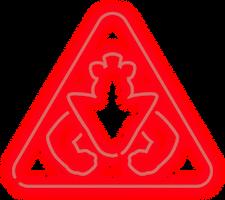 Glamrock Freddy Warning Sign PNG