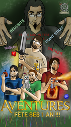 Anniversaire Aventures : #LevelUpAventures by S4turn-Art-on-Gaming