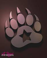 Metal Bear Paw by AkiBear108