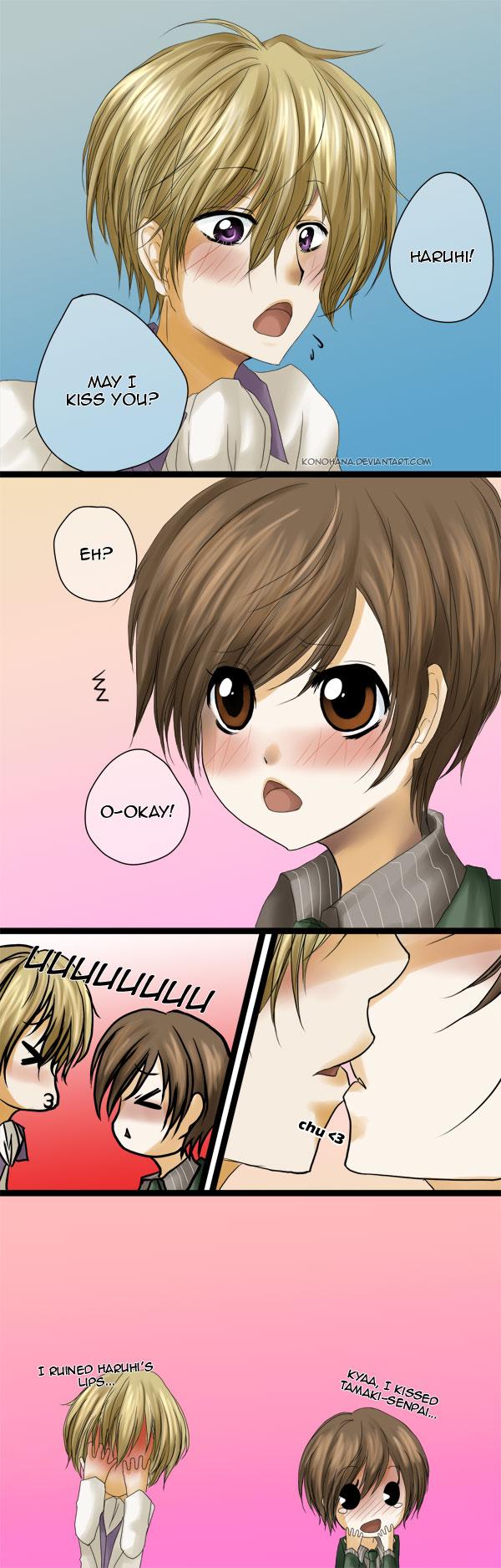 Haruhi  may I kiss you...