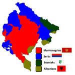 Ethnic Map of Montenegro