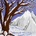 Snow Landscape (Pixel Art)