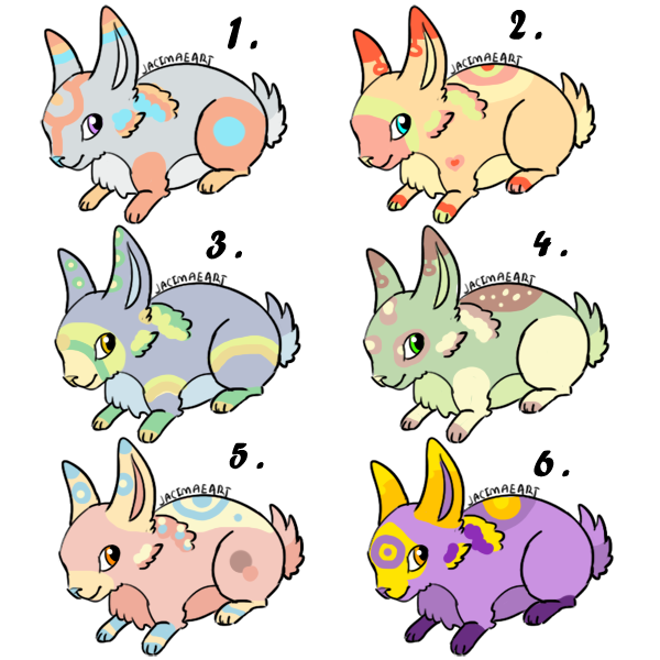 -Rabbits Adoptables 1 -OPEN- by Korollily