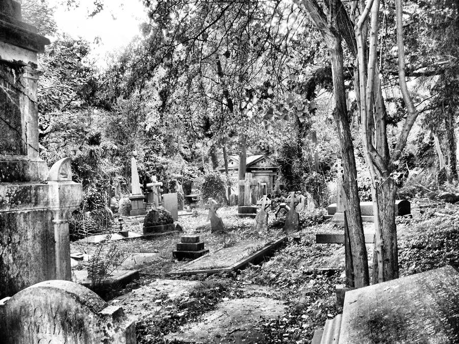 Highgate cemetery by IXIXIX
