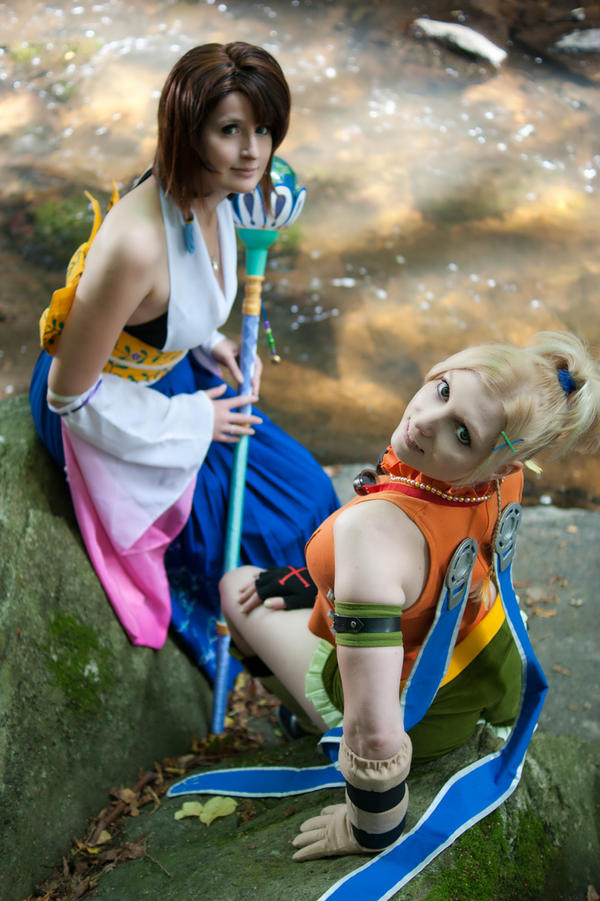 Yuna Summoner + Rikku by Shizuku-Seijaku