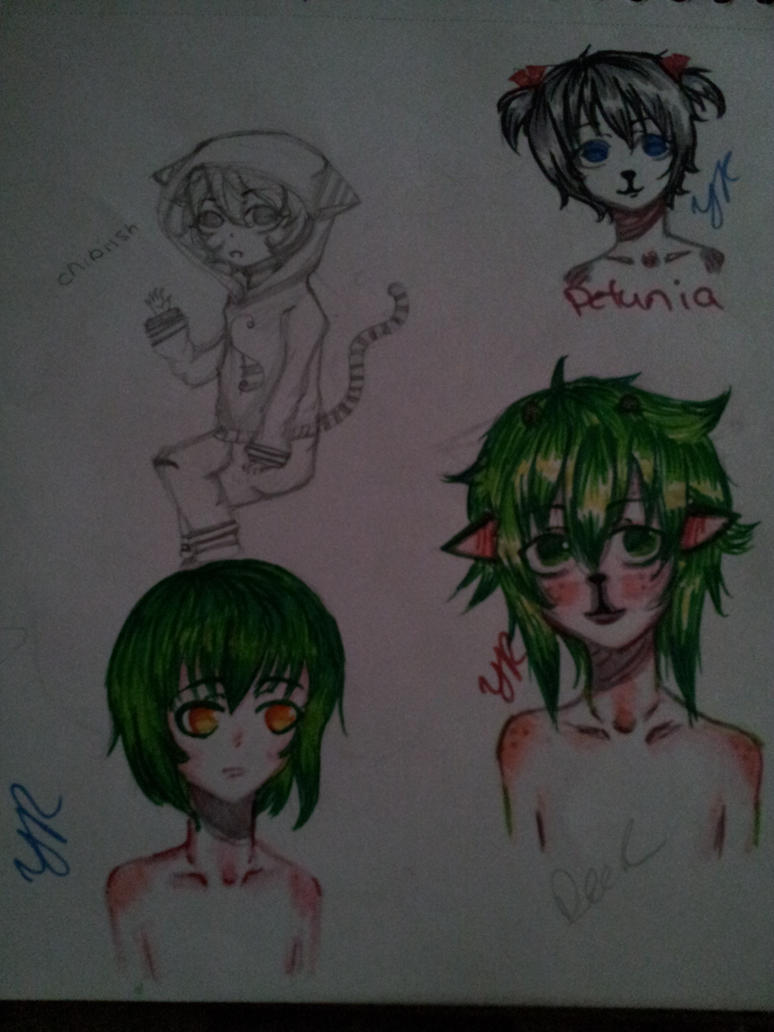 Colored doodles by XXILOVEAKATSUKIXX